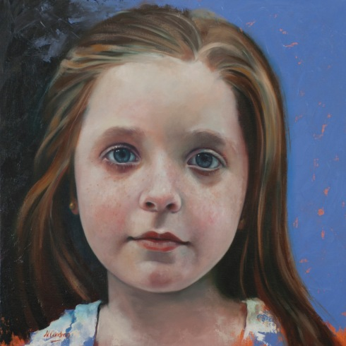 'Arabella' oil on canvas 60x60cm